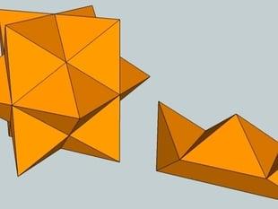 Star six piece burr puzzle