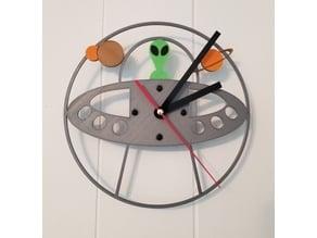 Alien UFO Clock (Remake)