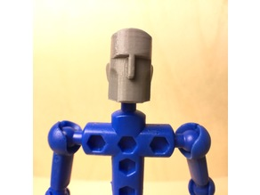 Stylized, slip-on face for ModiBot