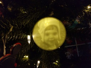 Ornament Customizable Lithophane! With text!