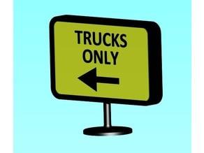 Truck-Stop-Signs for Tamiya Trucks
