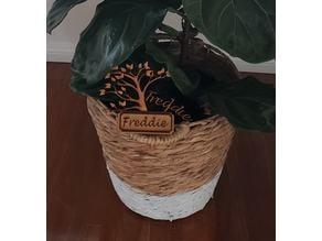 Tree plant sign