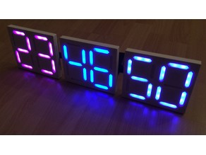 Dual 7 Segment Display using LED Strips