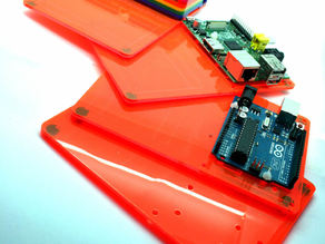 Multiholder - Prototyping Board for the Arduino and Rasperry Pi (also fits the Pibow)