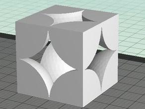 Simple Cubic Unit Cell Truncated