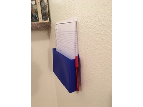 Wall Mounted Paper and Notebook Holder