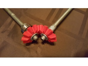 Beveled gears / 10 tooth - 58mm Diam with 14mm nut recess