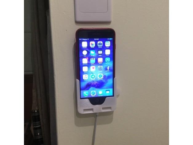 pretty nice da1ac d4c55 iPhone 6/7 Plus Wall Mount by Jigsawnz - Thingiverse