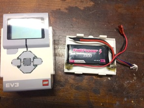 Lego Mindstorms EV3 Battery Cover for Lipo Rechargeable Pack