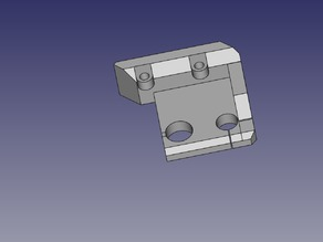 Top Left & Right Z Axis Holder for Hephestos - Anti Screw Wobble