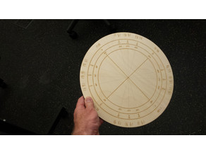 Laser Cut Unit Circle for Trigonometry