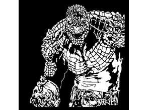Killer Croc stencil