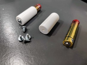 AAA to AA Battery Adapter using spare Computer Screws - Easy to Print