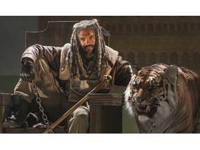 The Walking Dead King Ezekiel and Shiva Lithophane
