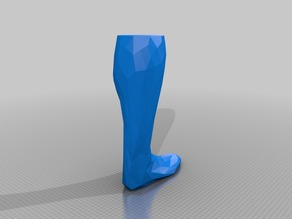 low poly right leg