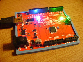 Arduino Uno/Sparkfun RedBoard Bumper for Flexible Filaments