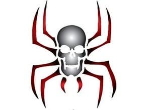 Spider Skull Stencil