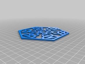 Spiral hexagons with internal pentagon 100hex object