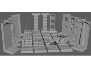 Stone brick tiles set (28MM)
