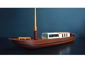 Towing barge / peat boat / van Gogh's boat