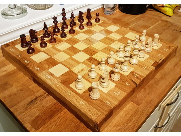 Diy Chessboard Made With Cnc By Iamjorgensen Thingiverse
