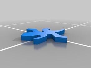 Gecko Lizard shape - Escher style puzzle piece