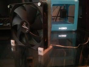 PC case fan feet for solder fume extractor