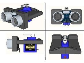Ultrasonic Sensor Arduino Microservo mount V2 compact