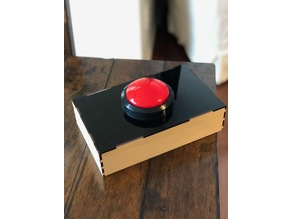 Laser cut box for huge Adafruit arcade button