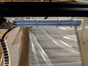 Ender 3 Gantry LED Holder for 2835, 12V LED Strips