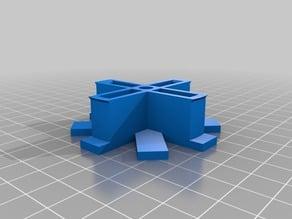 Parametric spool brackets for Bukobot filament spool holder