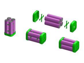 18650 Li-Ion Pack Holder/Caps