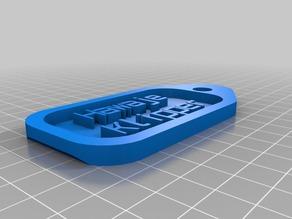 My Customized customized key tag - Haweje klipper