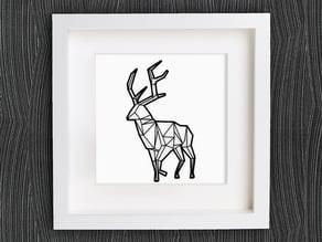 Customizable Origami Deer No. 2