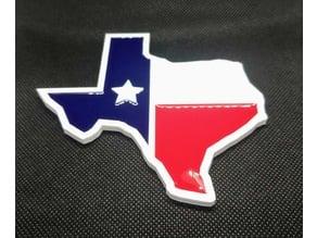 Texas flag coaster