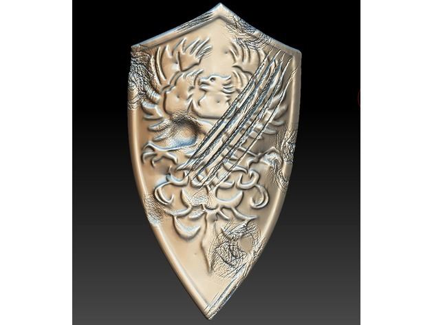 Battle Damaged Golden Wing Crest Shield [Dark Souls III] by