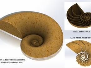 Nautilus Shell Castle (Fabonacci/Logarithmic Spiral)