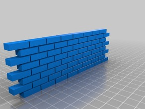 Inter locking brick wall