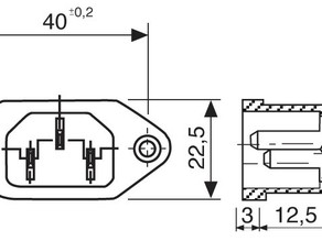 Kossel power supply connector