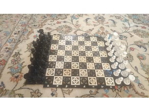 Wall mount Spiral Chess board