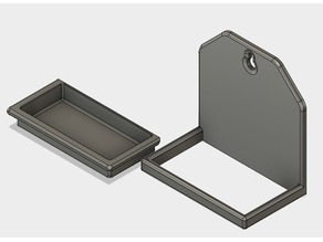 Drip tray with holder and splashback for watering system