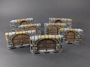 OpenLOCK Dungeon Stone Angled Doors