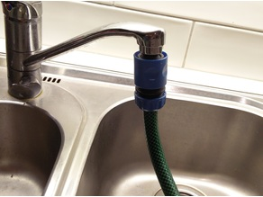 Gardena connector for standard household faucet