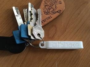 Bitshake Logo Keychain