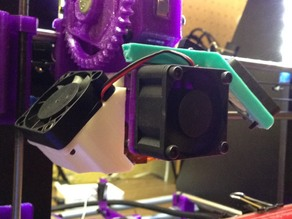 40mm cooling fan duct for Prusa i3 Rework with J-Head