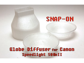 Flash diffuser with snap on domes for canon speedlight 580xII