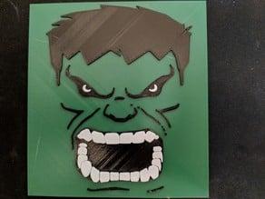 Multicolor Hulk print for single extruder printers