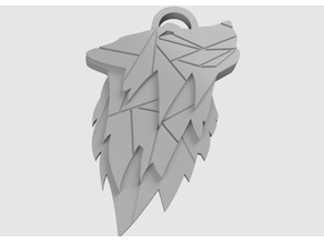 Wolf Key Chain Geometric