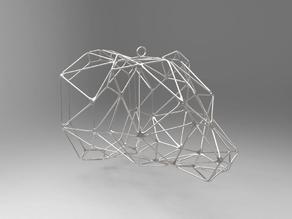 Bear Wireframe Pendant