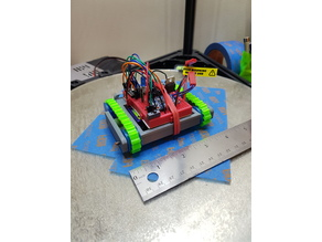 Small Treaded Tank Robot Chassis